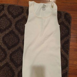 Off-White/Cream One Size Ribbed Tank Top